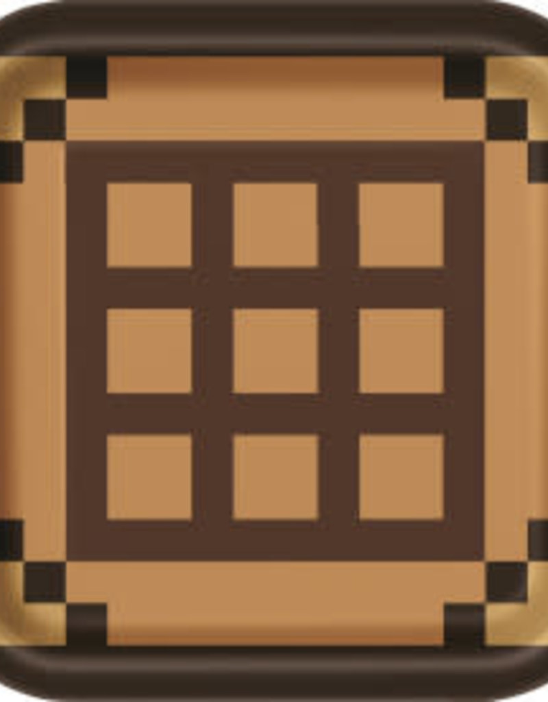 "9"" Minecraft Paper Plates - 8pc"
