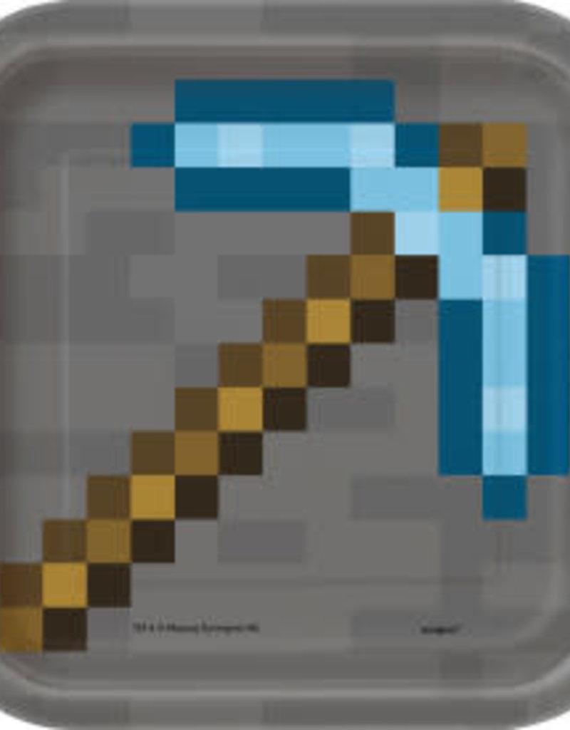 "7"" Minecraft Paper Plates - 8pc"