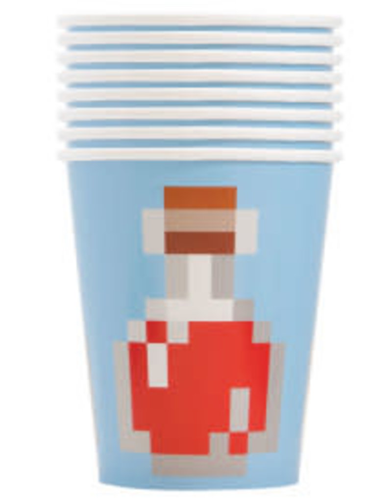 9oz Minecraft Paper Cups - 8pc