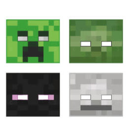 Minecraft Party Masks - 8ct