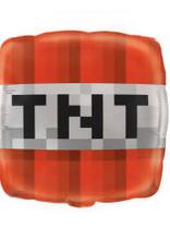 """18"""" Minecraft TNT Foil Balloon"""