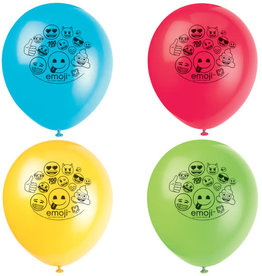 "11"" Emoji Latex Balloons - 8ct"
