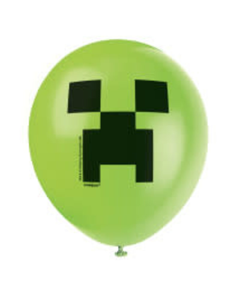 "11"" Minecraft Latex Balloons - 8ct"