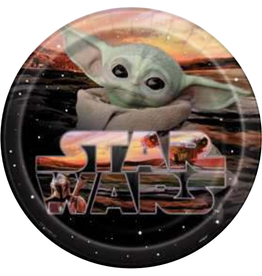 "9"" Baby Yoda Paper Plates - 8pc"
