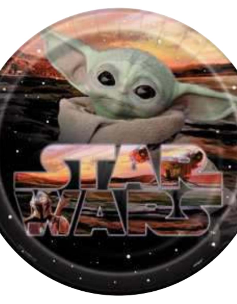 "9"" Baby Yoda Paper Plates - 8pc"