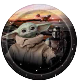 "7"" Baby Yoda Paper Plates - 8pc"