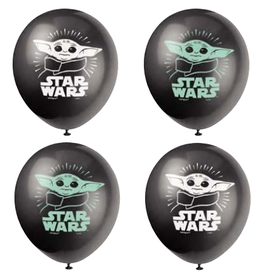 "11"" Baby Yoda Latex Balloons - 8ct"