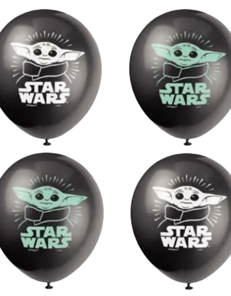 "11"" Baby Yoda Latex Balloons - 8ct"