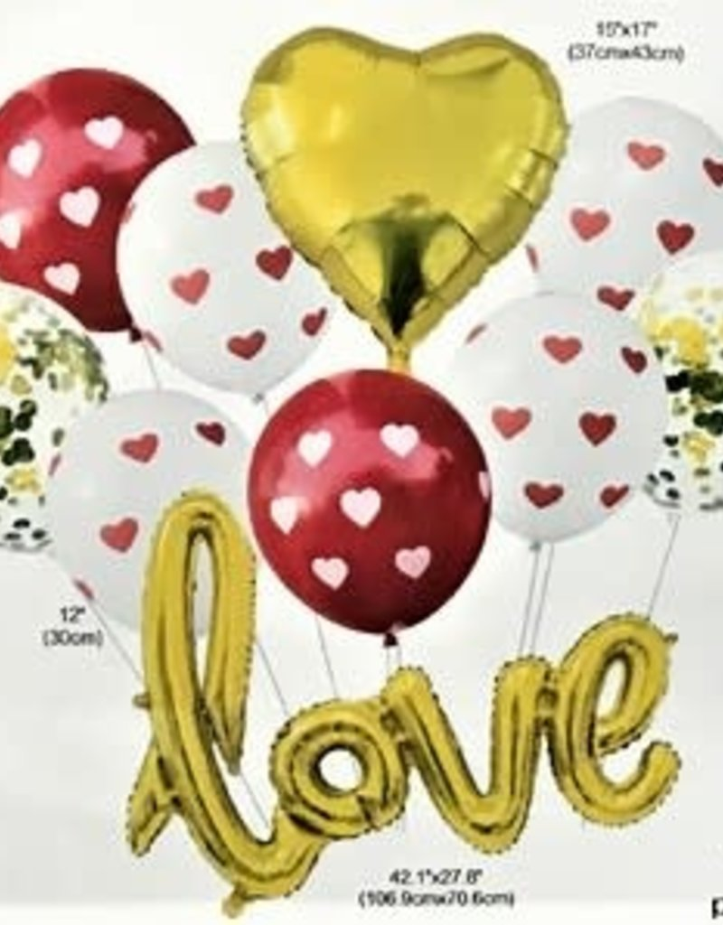 GIFT OF LOVE Bouquet - Gold/white/red