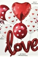 GIFT OF LOVE Bouquet - Red/white