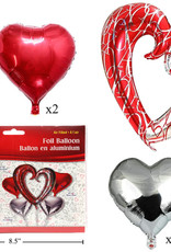 FROM THE HEART Bouquet - Red/white/silver