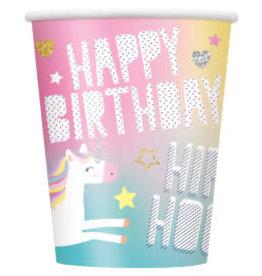 Unicorn 9oz Paper Cups