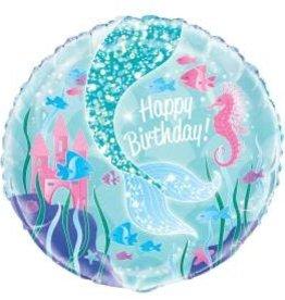 """Mermaid Foil Balloon 18"""""""
