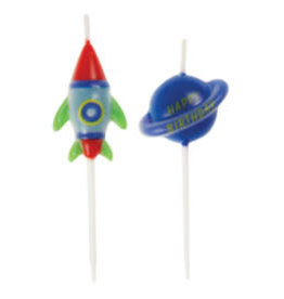 Outer Space Birthday Candles