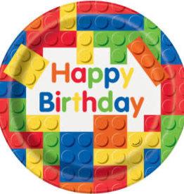 "Lego Birthday Dinner Plates-9"""