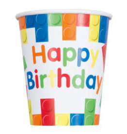 Lego Birthday Paper Cups-9oz