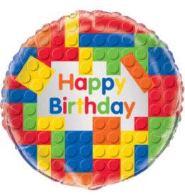 "Lego Birthday Foil Balloon-18"""