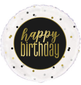 Metallic Happy Birthday Foil Balloon-18""