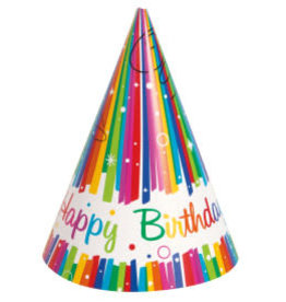 Rainbow Ribbons Birthday Party Hats