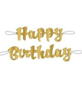 "Metallic/Gold ""Happy Birthday"" Banner"