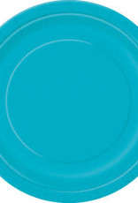 "Dino/Caribbean Teal Dessert Plates-7"""