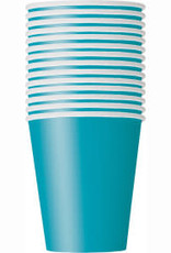 Dino/Caribbean Teal Paper Cups-9oz