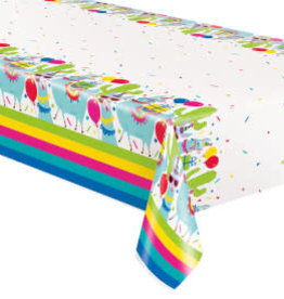 Llama Birthday Table Cover