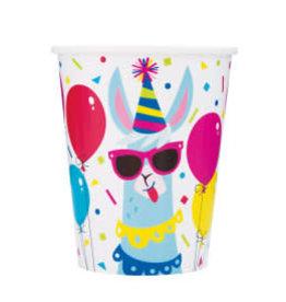 Llama Birthday Paper Cups-9oz