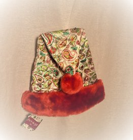 JOY TO THE GIRL PAISLEY SANTA HAT