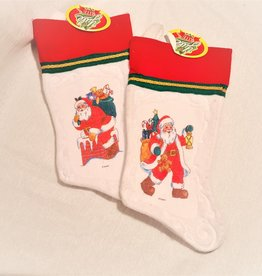 FELT PRINTED SANTA STOCKING ASST.