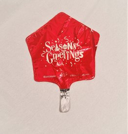 "Seasons Greetings Star 9"" airfill only"