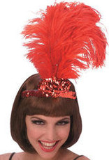 FEATHER CAN-CAN TIARA RED