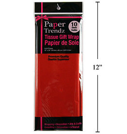 10 pc tissue Wrapping Paper -red