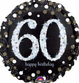 "Sparkling 60th B-Day 18"""