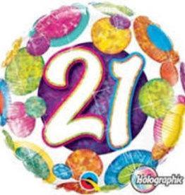 "Sparkle Polka Dots 21st B-Day 18"""
