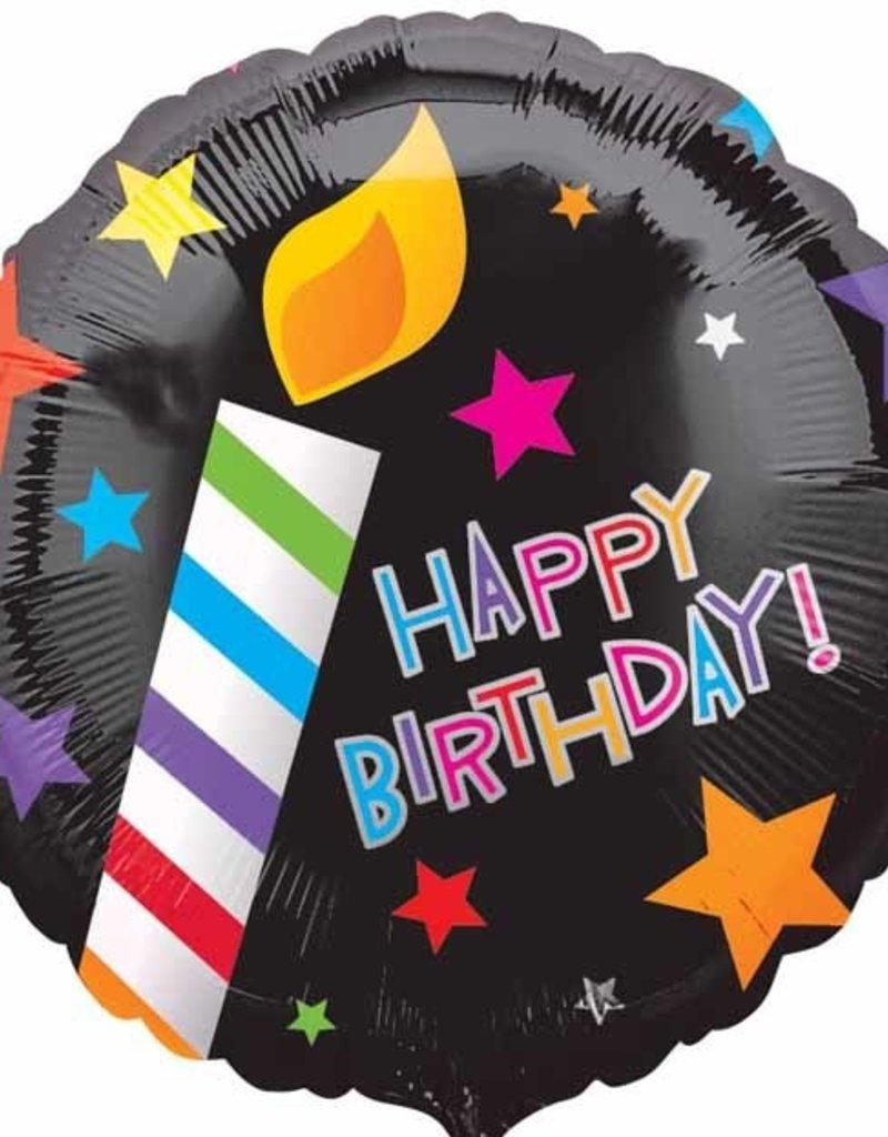 "Qualatex Happy B-Day Candle 18"""