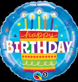 "Blue Birthday Cake 18"""