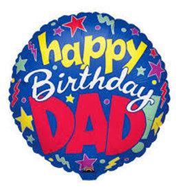 """Qualatex Happy B-Day Dad 18"""""""