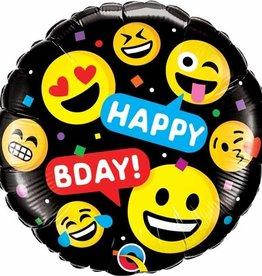 """Qualatex Emoji Happy B-Day 18"""""""