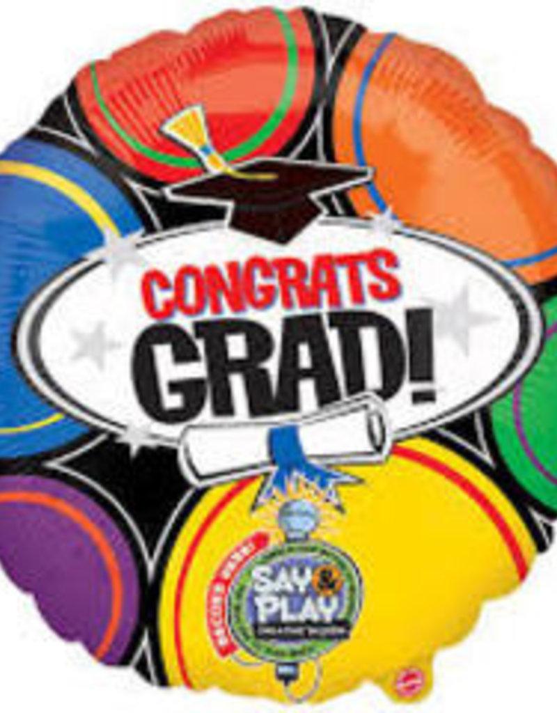 Congrats Grad Singing Balloon