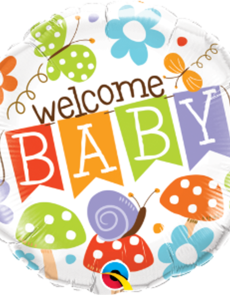 """Qualatex Gender Neutral Welcome Baby 18"""""""