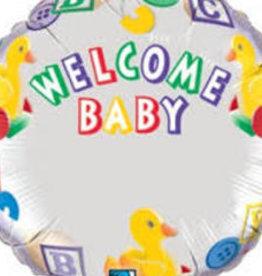 "Custom Welcome Baby 18"""