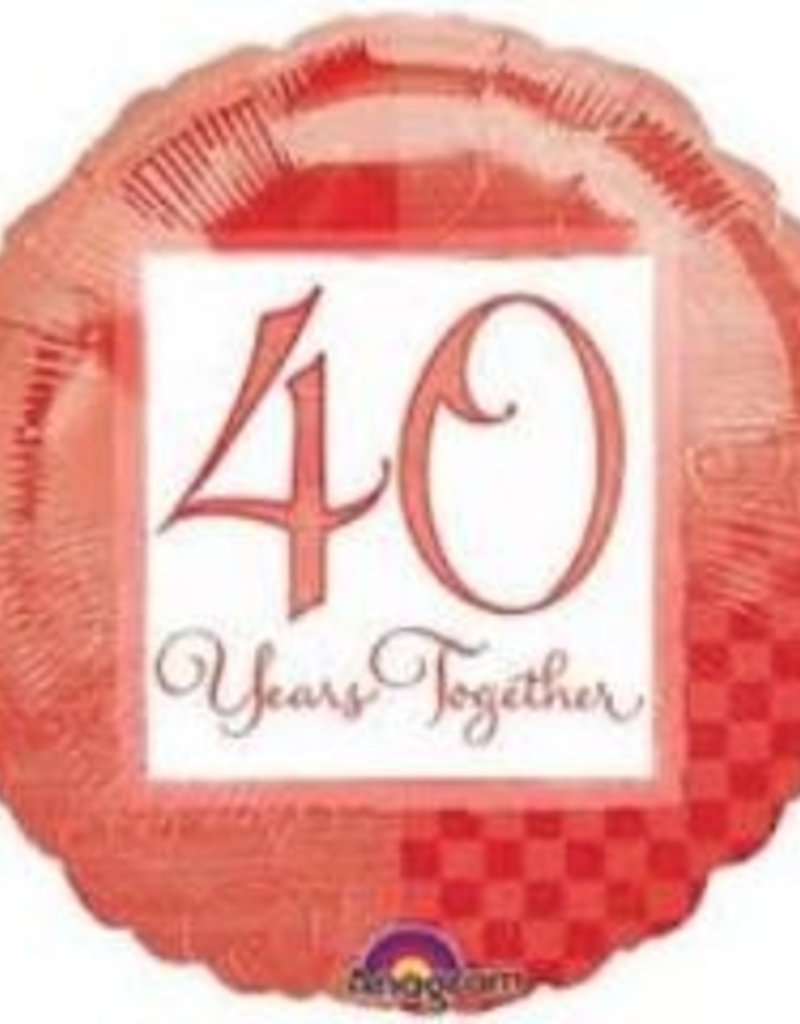 """40 Years Together 18"""""""