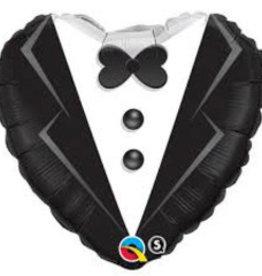 "Tuxedo Heart 18"""
