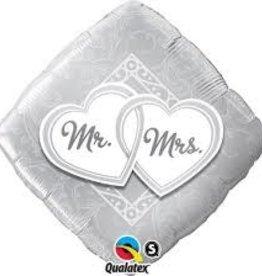 """Qualatex 18"""" Mr. and Mrs. (FLAT)"""