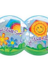 Qualatex Get Well Soon Bubble (FLAT)