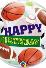 Qualatex Sports Happy B-Day Bubble (FLAT)