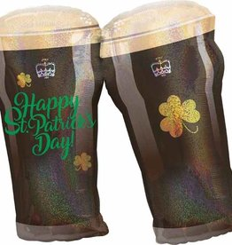 """ST PATS BEER GLASS 28"""""""