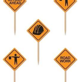 Construction sign picks