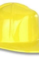 Yellow plastic contruction hat